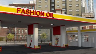 Street Gas Station